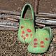 """Обувь ручной работы. Ярмарка Мастеров - ручная работа. Купить тапочки валяные """"ВЕСЕННЕЕ НАСТРОЕНИЕ"""". Handmade. Тапочки валяные"""