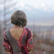 Одежда ручной работы. Ярмарка Мастеров - ручная работа Платье валяное на шелке Anastasia. Handmade.