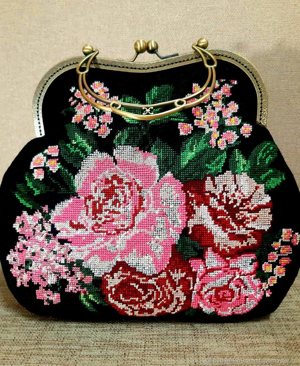 Bag with clasp: spring bouquet, Clasp Bag, Temryuk,  Фото №1