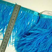 handmade. Livemaster - original item Trim of ostrich feathers 10-15 cm light blue. Handmade.