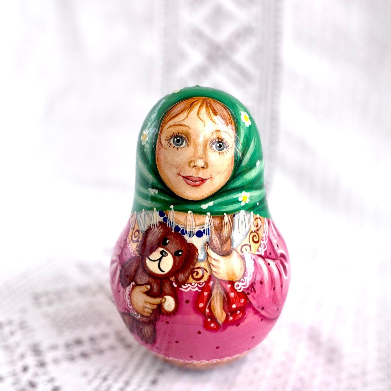 """Неваляшка """"Лиза с игрушечной собакой"""", Матрешки, Домодедово,  Фото №1"""