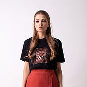 Одежда handmade. Livemaster - original item T-shirt with print. Handmade.