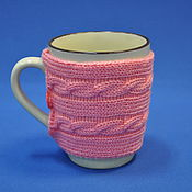 Для дома и интерьера ручной работы. Ярмарка Мастеров - ручная работа кружка в свитере. Handmade.
