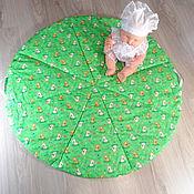Подарок новорожденному ручной работы. Ярмарка Мастеров - ручная работа Коврик -сумка для игрушек Дружок. Handmade.