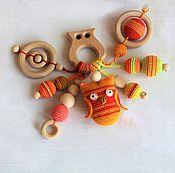 """Куклы и игрушки ручной работы. Ярмарка Мастеров - ручная работа Грызунок. Прорезыватель. Слингогрызунок """"Совушка"""".. Handmade."""