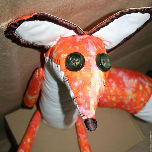 """Игрушки животные, ручной работы. Ярмарка Мастеров - ручная работа. Купить Мягкая игрушка """"Лис"""". Handmade. Оранжевый, игрушки, лисичка"""