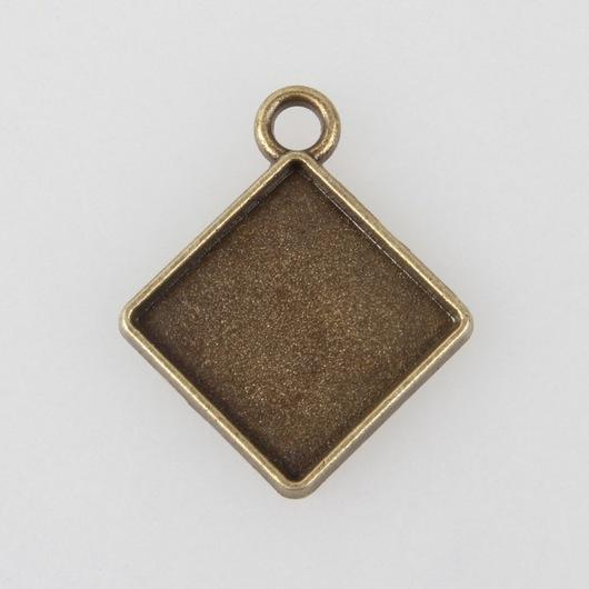 Для украшений ручной работы. Ярмарка Мастеров - ручная работа. Купить Ромб основа под заливку или кабошон. Handmade.