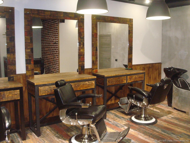 Производство мебели для барбершопа. Barbershop в стиле лофт. Проектируем, производим и доставляем.