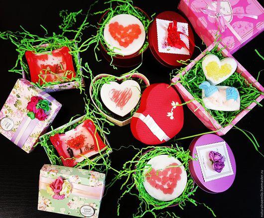 Мыло ручной работы. Ярмарка Мастеров - ручная работа. Купить День Святого Валентина. Handmade. Комбинированный, подарок на свадьбу, лаванда