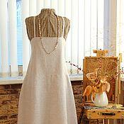 Одежда ручной работы. Ярмарка Мастеров - ручная работа Бохо сарафан льняной длинный. Handmade.