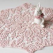 Для дома и интерьера ручной работы. Ярмарка Мастеров - ручная работа салфетка вязаная розовая  №3. Handmade.