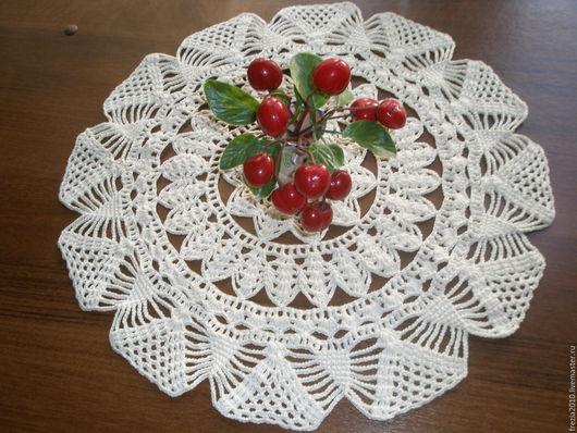 """Текстиль, ковры ручной работы. Ярмарка Мастеров - ручная работа. Купить салфетка """"цветок"""". Handmade. Белый, украшение для интерьера"""