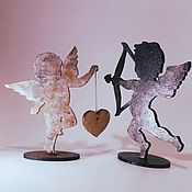 Статуэтки ручной работы. Ярмарка Мастеров - ручная работа Ангелочек-подставка. Handmade.