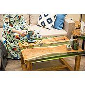 Столы ручной работы. Ярмарка Мастеров - ручная работа Журнальный стол-река из Карагача. Handmade.