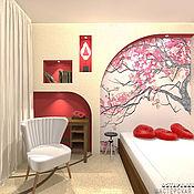 Дизайн и реклама ручной работы. Ярмарка Мастеров - ручная работа Дизайн интерьера спальни в японском стиле. Handmade.