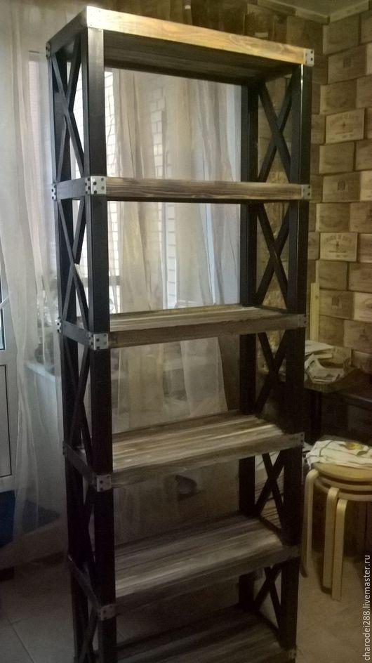 Мебель ручной работы. Ярмарка Мастеров - ручная работа. Купить Стеллаж ЛОФТ для книг. Handmade. Стеллаж, мебель ручной работы