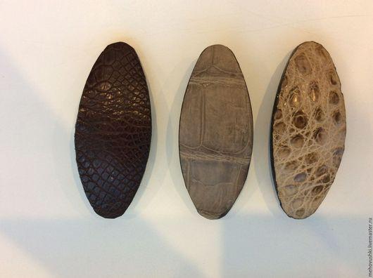 Заколки ручной работы. Ярмарка Мастеров - ручная работа. Купить Заколка для волос крокодил. Handmade. Черный, кожа крокодила