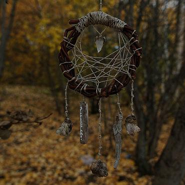 Феншуй ручной работы. Ярмарка Мастеров - ручная работа Лесной ловец снов с кристаллами кварца. Handmade.