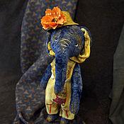 Куклы и игрушки ручной работы. Ярмарка Мастеров - ручная работа Джулли, слоник-тедди. Handmade.