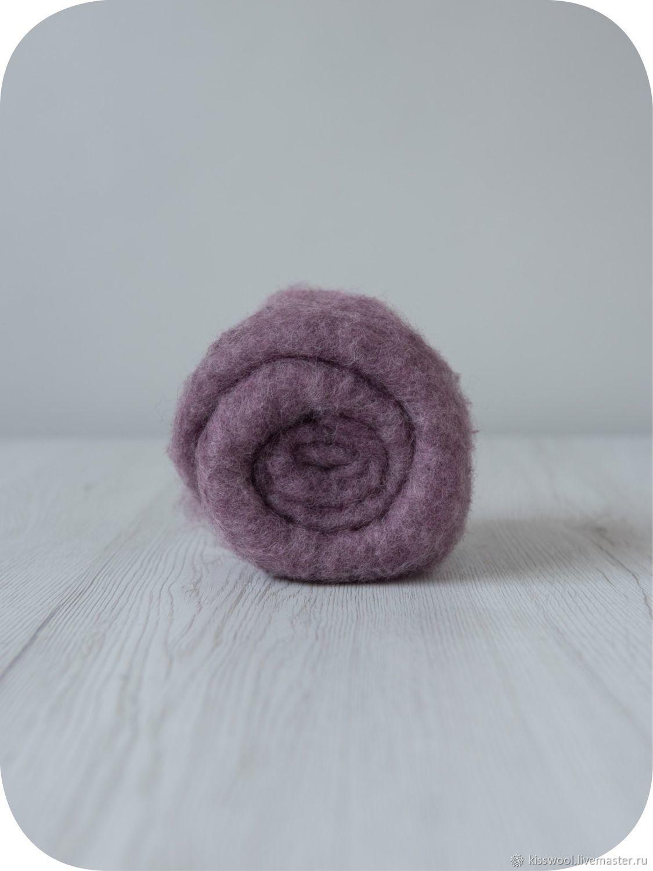 Wool Cardoons Maori70% Bergshaf30% Lily, Carded Wool, Berdsk,  Фото №1