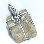 Украшения handmade. Livemaster - original item Pendant/pendant with natural pyrite. Handmade.
