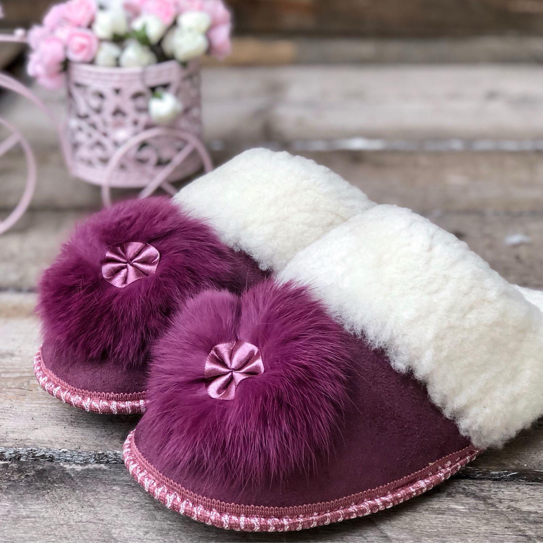 Меховые тапочки для дома (овечья шерсть 100%), Тапочки, Нальчик, Фото №1