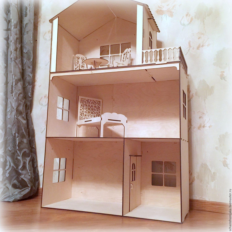 Как сделать домик для куклы Барби своими руками из разных 96