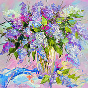Картины и панно handmade. Livemaster - original item Oil painting lilac