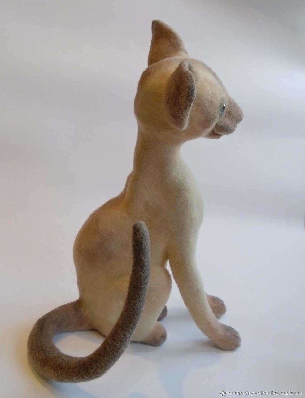 felt toy: Siamese cat, Felted Toy, Nizhny Novgorod,  Фото №1