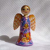 Сувениры и подарки ручной работы. Ярмарка Мастеров - ручная работа Куколка ангел с золотой рыбкой, 7см. Handmade.
