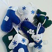 Подарки к праздникам ручной работы. Ярмарка Мастеров - ручная работа Игрушки на ёлку из фетра. Handmade.