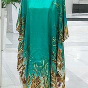 Одежда handmade. Livemaster - original item Vestido túnica de batik emerald