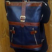 Сумки и аксессуары handmade. Livemaster - original item Backpack-leather bag 71. Handmade.