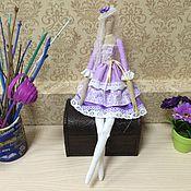 Куклы и игрушки ручной работы. Ярмарка Мастеров - ручная работа Тильда лиловая. 44 см.. Handmade.