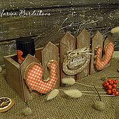"""Для дома и интерьера ручной работы. Ярмарка Мастеров - ручная работа Короб """"Петушки"""". Handmade."""