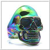 Украшения handmade. Livemaster - original item Women`s Skull ring No. 2 steel. Handmade.