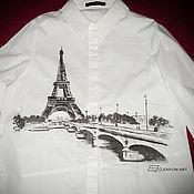 """Одежда ручной работы. Ярмарка Мастеров - ручная работа Рубашка """"Париж"""". Handmade."""