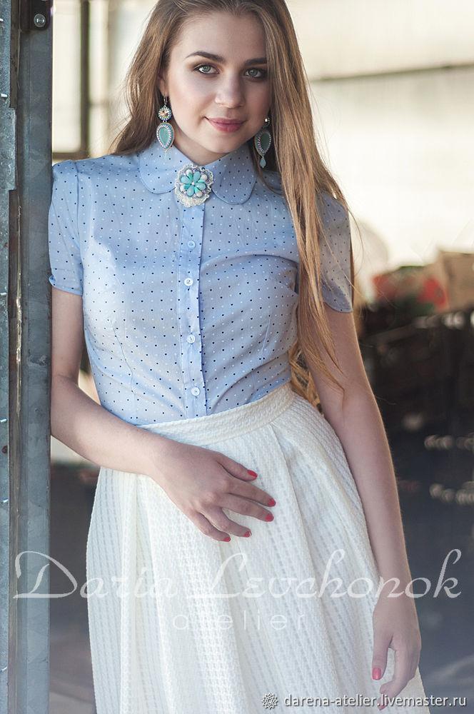 9c55ec510e9 Блуза-рубашка Нежная Сирень – купить в интернет-магазине на Ярмарке ...
