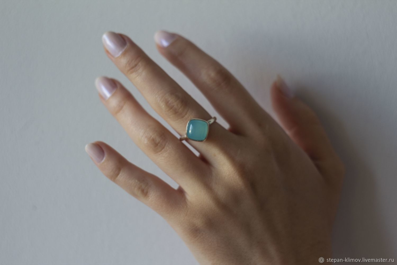 Ring 'Lollipop' silver, chalcedony, Rings, Krasnoyarsk,  Фото №1