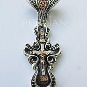 Украшения handmade. Livemaster - original item Silver Baroque cross with grenades. Handmade.