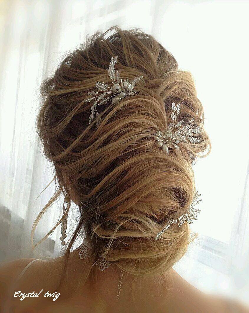 Свадебные украшения ручной работы. Ярмарка Мастеров - ручная работа. Купить  Шпильки для прически невесты ... dc541ad295b