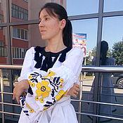Одежда ручной работы. Ярмарка Мастеров - ручная работа Вышитое женское платье, лен, бохо стиль ,Bohemian, этно. Handmade.