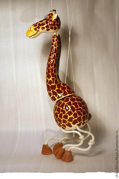 Игрушки животные, ручной работы. Ярмарка Мастеров - ручная работа. Купить Жираф. Handmade. Подарок, Подвес, колокольчик, зоопарк