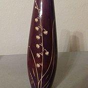 """Винтаж ручной работы. Ярмарка Мастеров - ручная работа Ваза из дерева """"Ландыши"""". Handmade."""