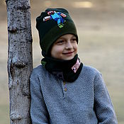 Аксессуары handmade. Livemaster - original item Minecraft hat knit, hat, beanie, wool, for boy for winter.. Handmade.
