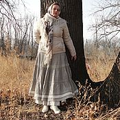Одежда handmade. Livemaster - original item Skirt long Linen and lace. Handmade.
