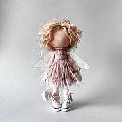 Куклы и игрушки handmade. Livemaster - original item Interior doll: Angel Light brown dusty rose Textile cook. Handmade.