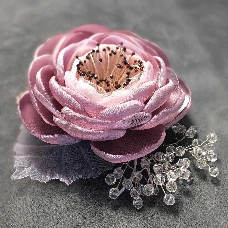 Livemaster - handmade. Buy Morning Ice Roses. Brooch - handmade flower ...