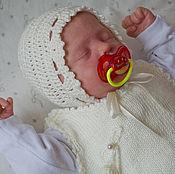 Работы для детей, ручной работы. Ярмарка Мастеров - ручная работа шапочка для новорожденного. Чепчик для новорожденного. Handmade.