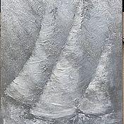 Картины и панно handmade. Livemaster - original item Painting with sailboats abstract, textural